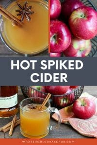 Hot spiked cider, simmered with toasty autumn spices, fresh ginger, and citrus is fall in a cup, with an edge!
