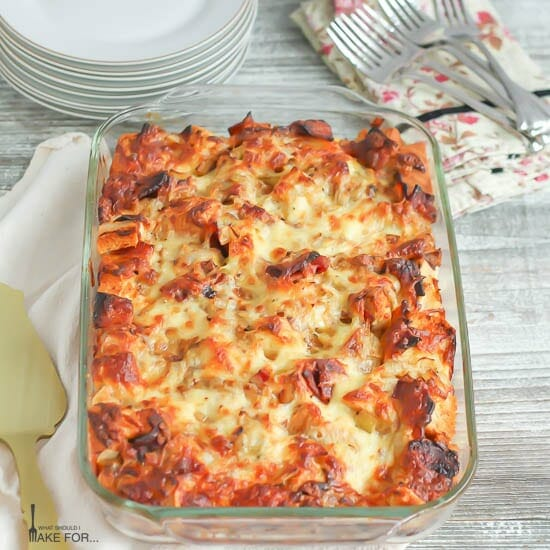 Candied Bacon and Egg Strata