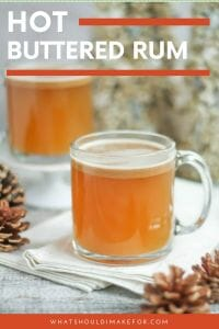 Hot buttered rum is warmly spiced and soothing on a cold winter's day. Make-ahead butter, warm cider, and spiced rum make a cozy mug of comfort.