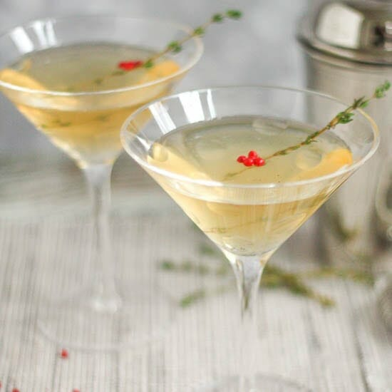 Vanilla, Pepper and Thyme Martini