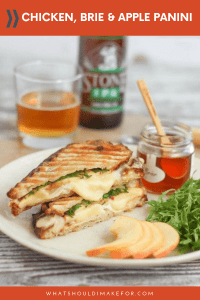 This chicken, brie, and apple panini sandwich, sweetened with a drizzle of honey, comes together in minutes and is perfect for a quick weeknight dinner.