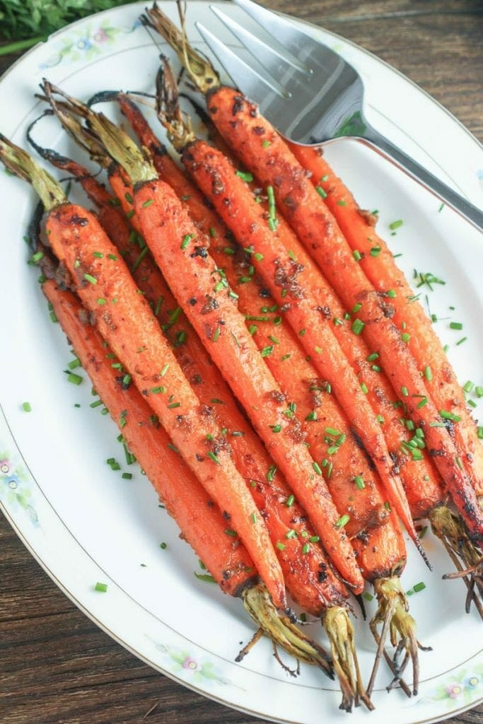 Roasted Carrots with Miso Butter