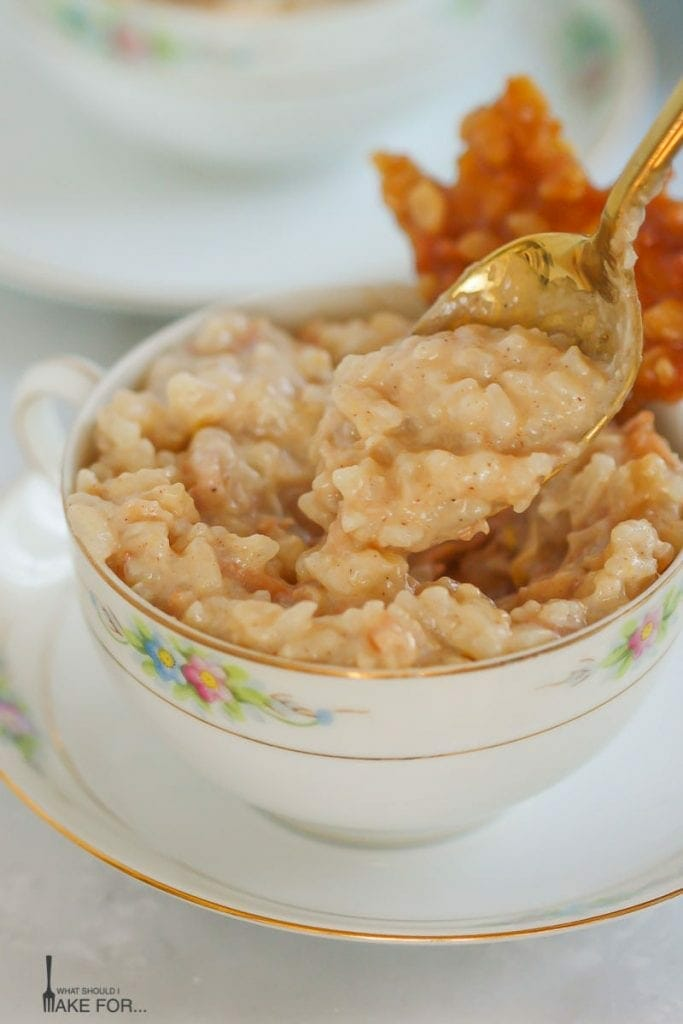 Coconut Rice Pudding with Coconut Caramel Brittle