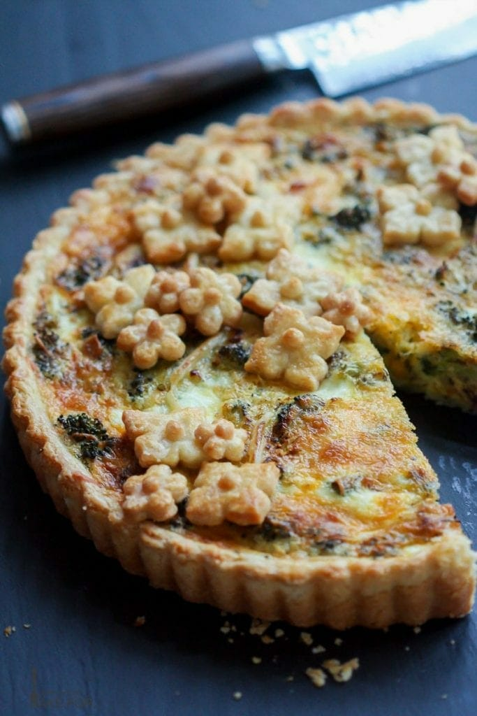 Roasted Broccoli Quiche