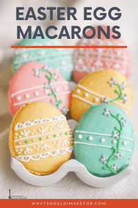 Move over chocolate bunnies, these sweet French Easter egg macarons will be your new favorite Easter treat.