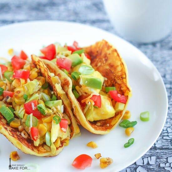 Corn Pancake Breakfast Tacos