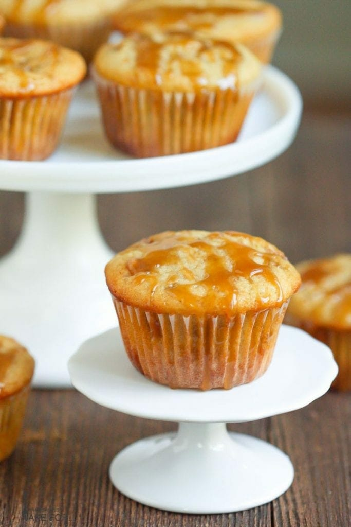 Butterscotch Muffins with Brown Sugar Glaze