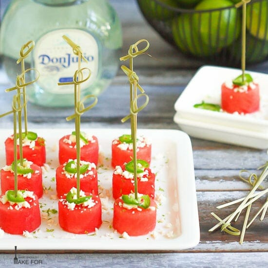 Margarita Watermelon Bites