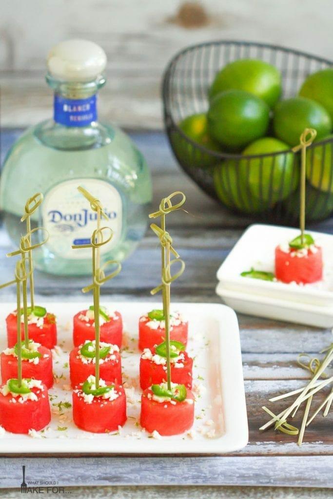 Margarita Watermelon Bites