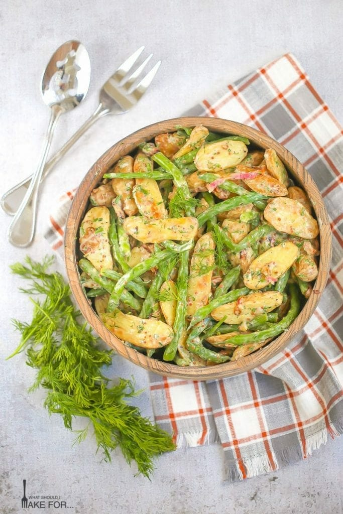 Roasted Fingerling Potato Salad with Green Beans