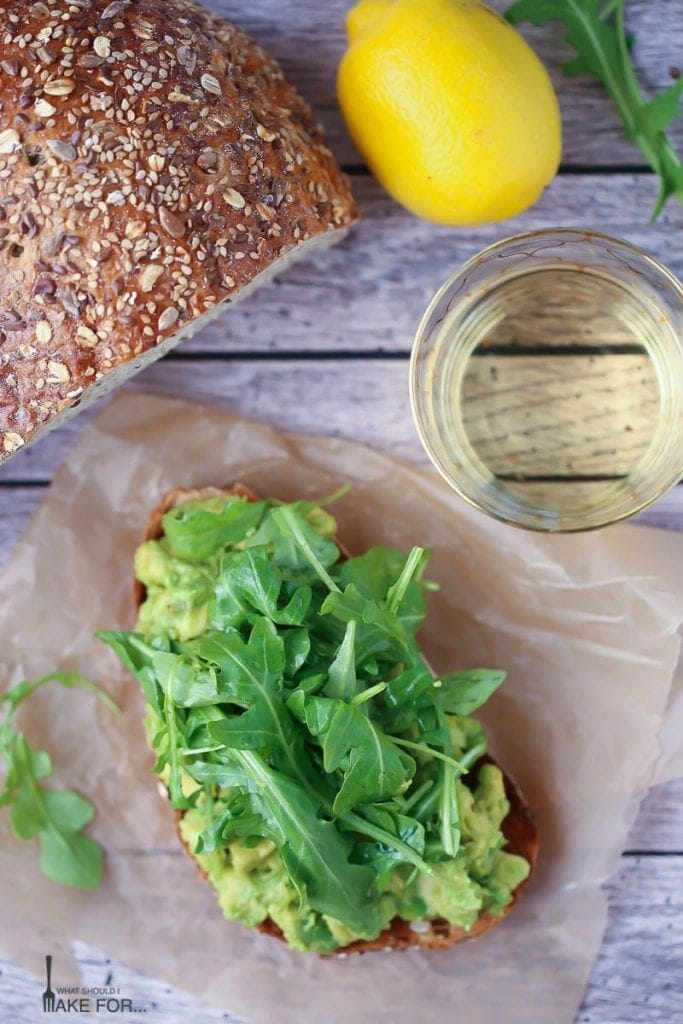 Lemony Avocado Toast with Arugula