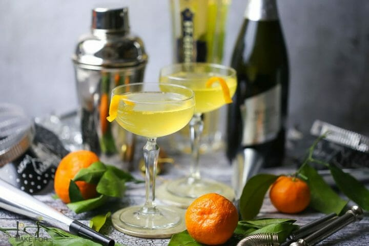 Sparkling Orange and St-Germain Cocktail