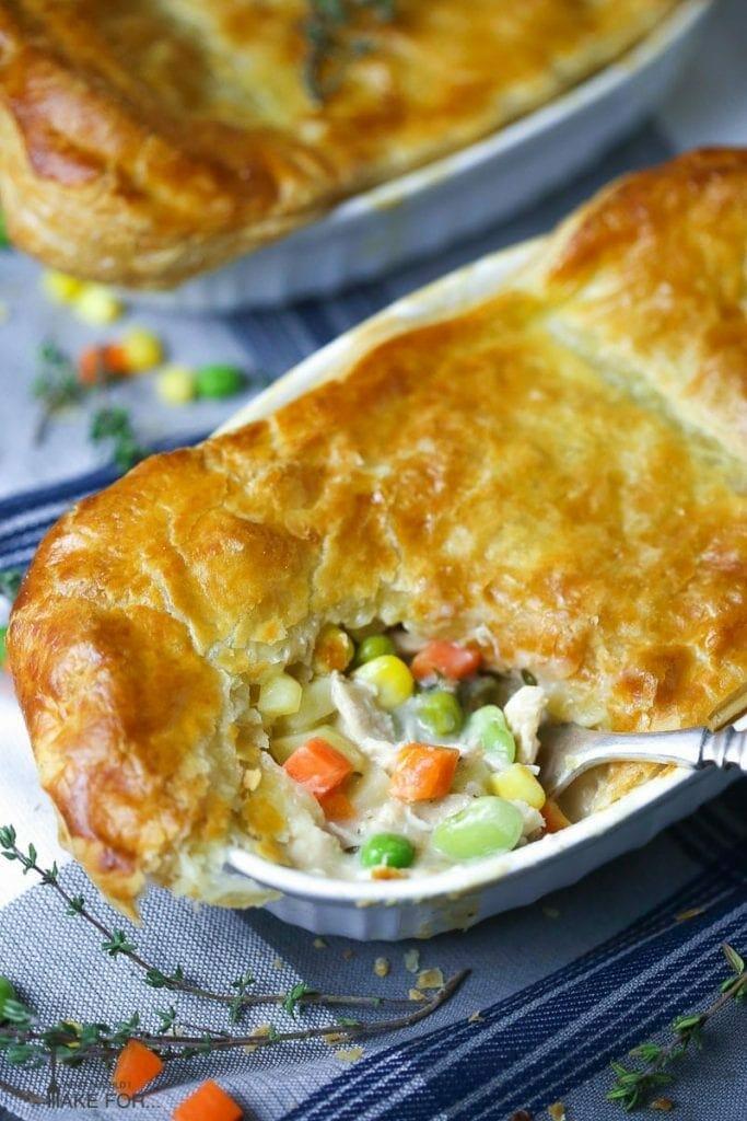 Easy Individual Chicken Pot Pie