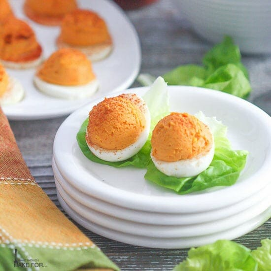 March Madness Deviled Eggs