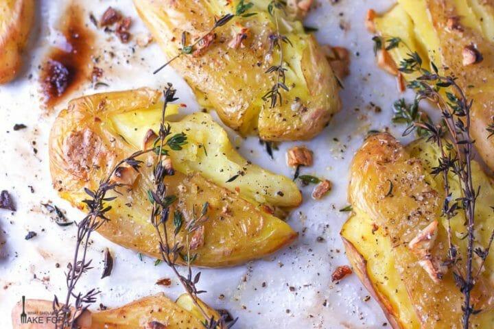Smashed Roasted Fingerling Potatoes