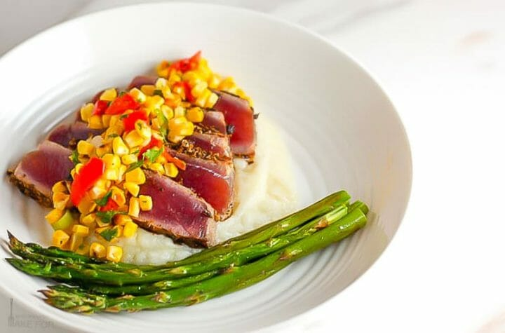 Seared Tuna Steaks with Corn Salsa
