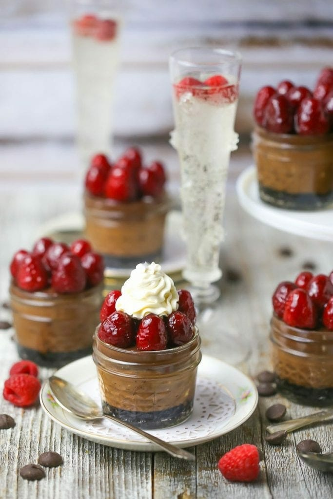 Raspberry Triple Chocolate Cheesecake In A Jar What Should