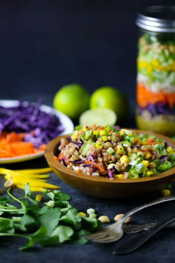 Thai Salad in a Jar