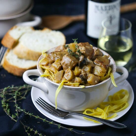 Veal and Mushroom Stew