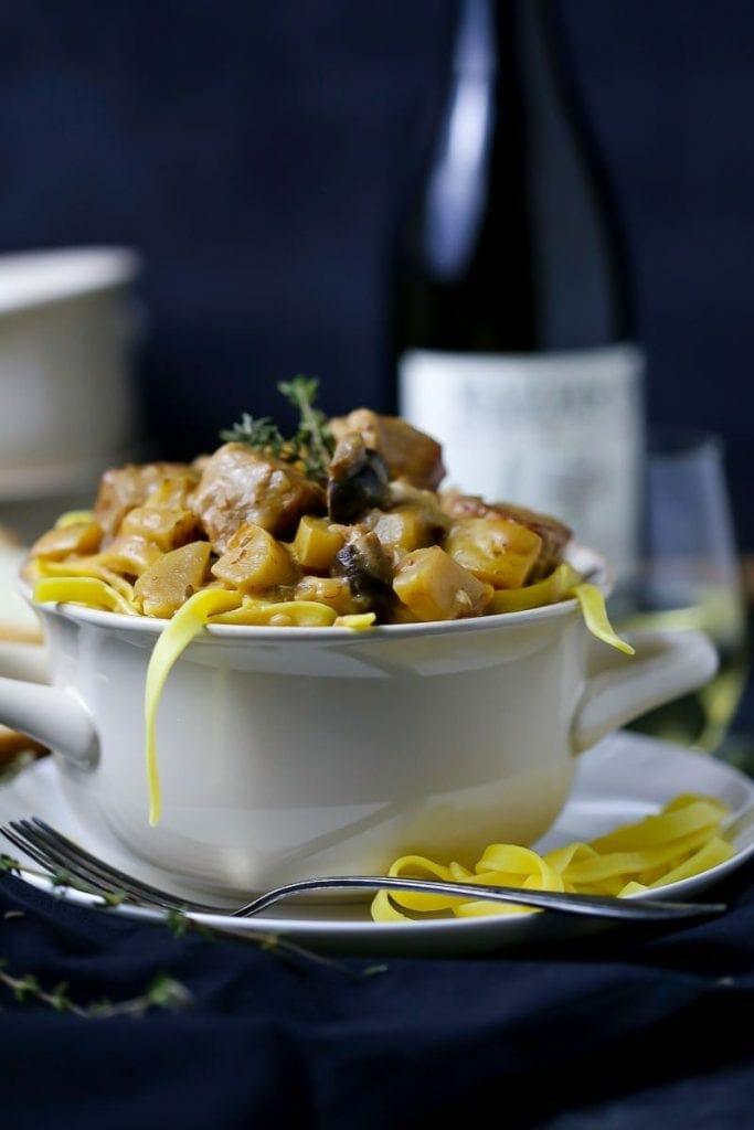Veal and Mushroom Stew