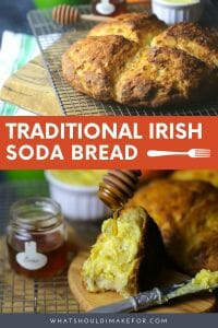 Celebrate St. Patrick's Day with a warm hunk of Irish soda bread slathered with orange butter. This easy recipe is flavored with buttermilk and orange and pairs just as well with coffee or a pint! Cheers!
