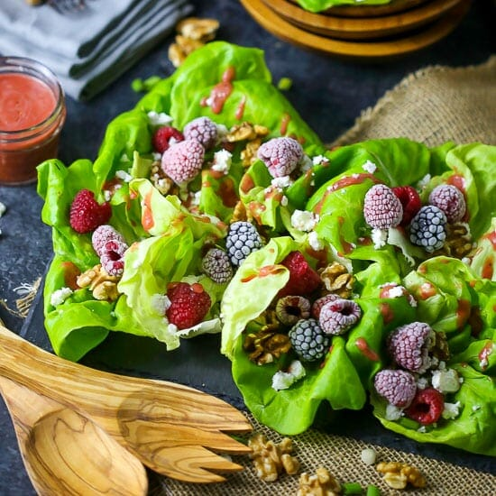 Raspberry and Feta Cheese Salad