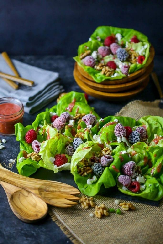 Raspberry and Feta Cheese Salad
