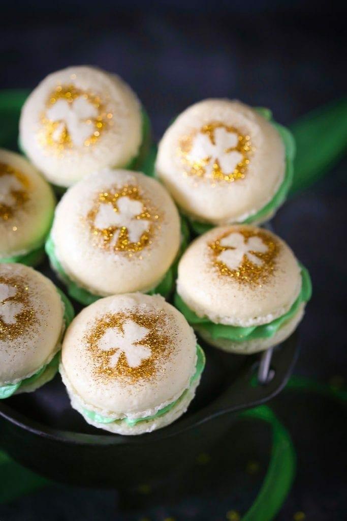Shamrock Macarons