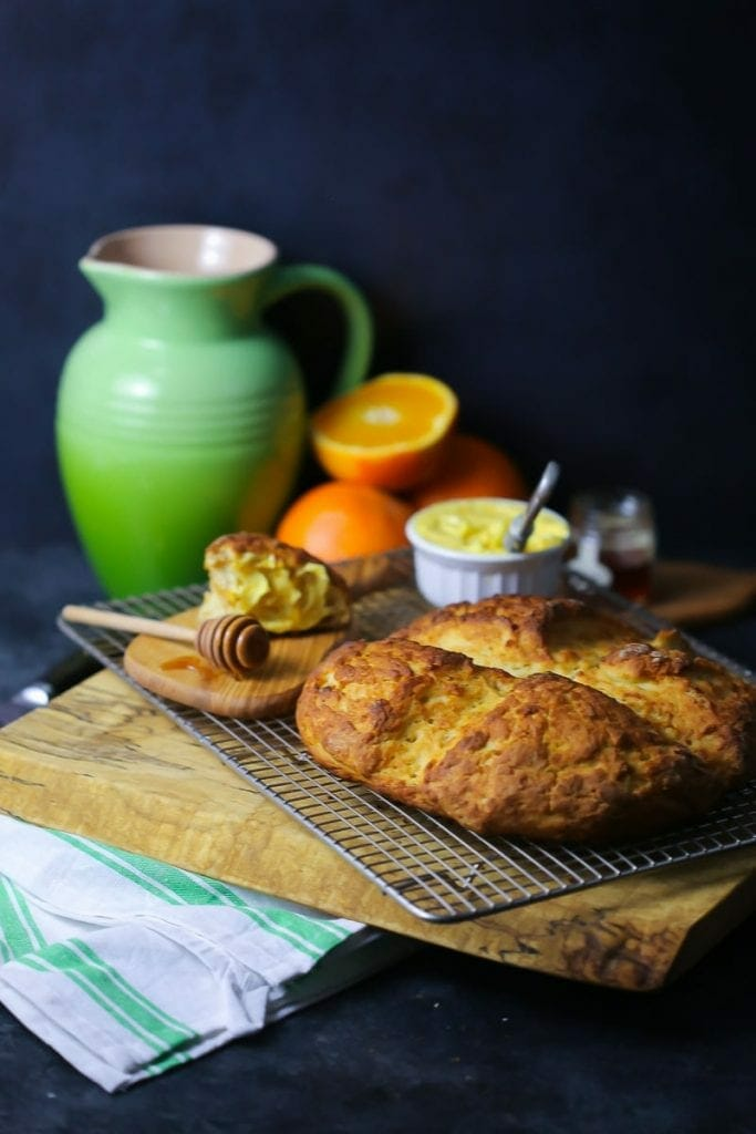 Traditional Irish Soda Bread with Orange Butter