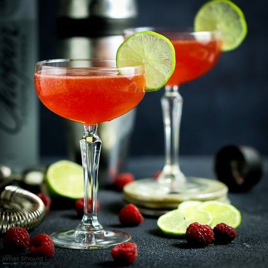 Raspberry Shrub Cocktail