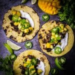 Pork Carnitas with Pineapple Mango Salsa