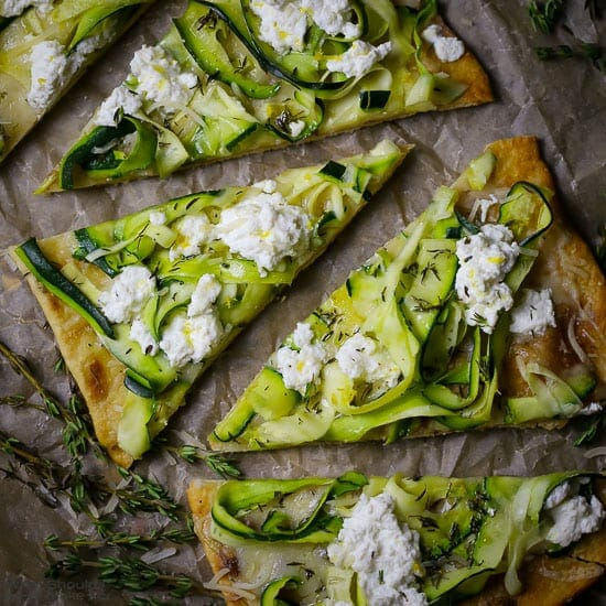 Zucchini Grilled Pizza