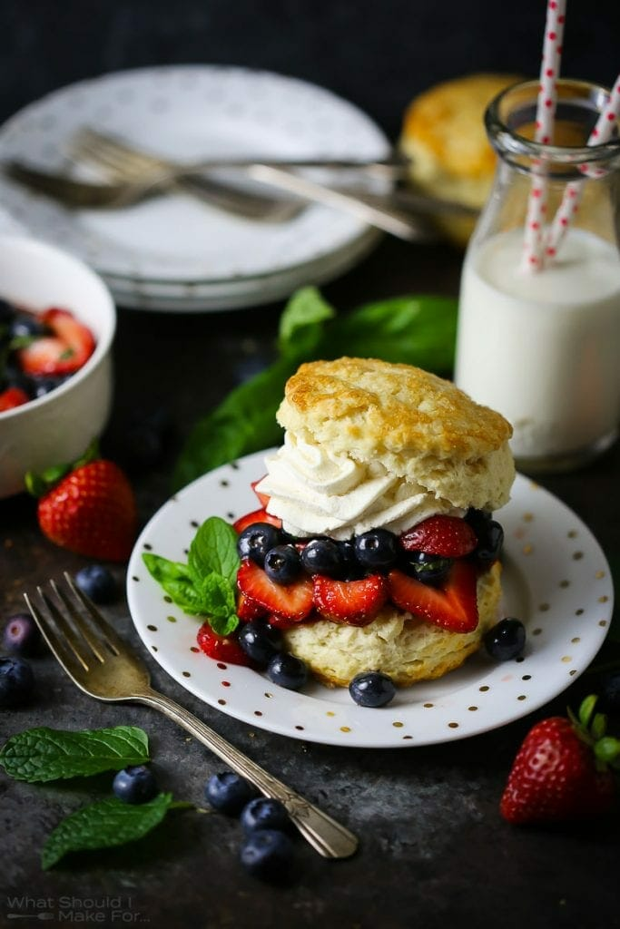 Blueberry Strawberry Shortcake