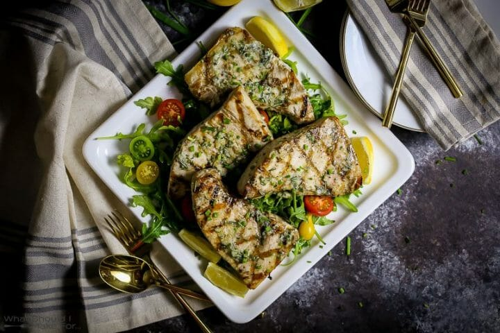 Grilled Swordfish with Herb Butter