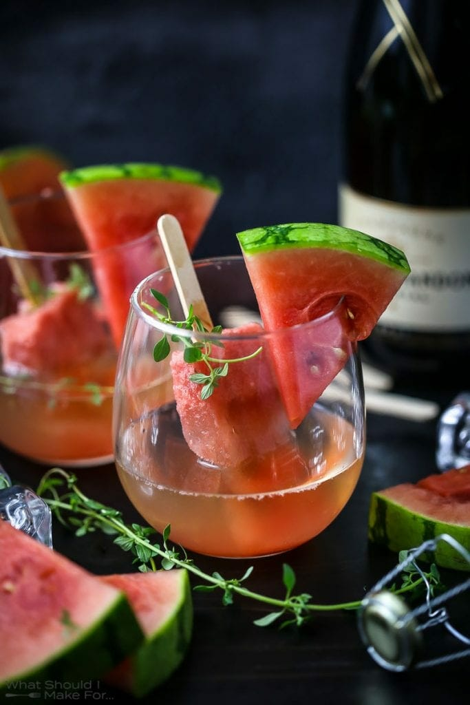 Watermelon Champagne Popsicle