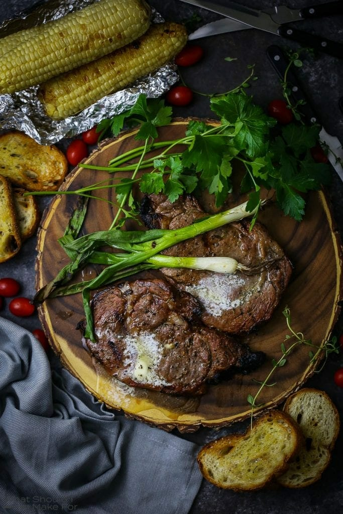 Grilled Ribeye Steaks