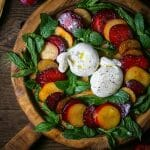 Plum Caprese Salad