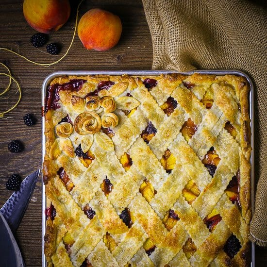 Peach Blackberry Slab Pie