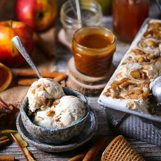 Caramel Apple No-Churn Ice Cream