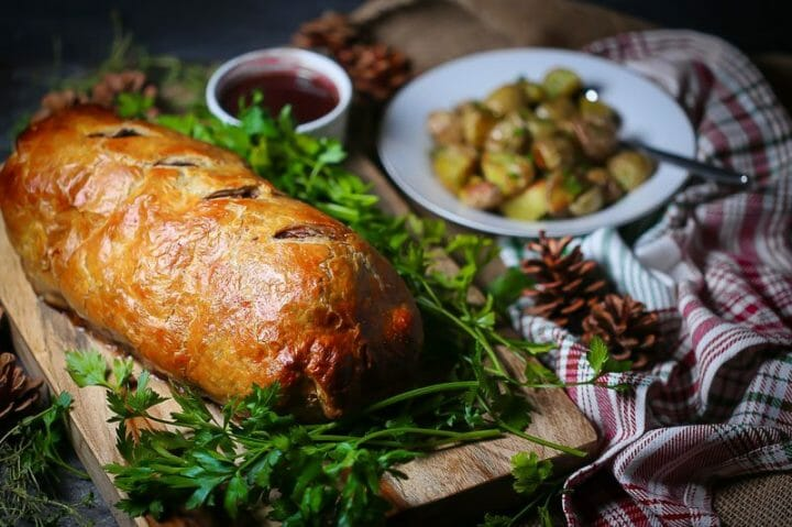 Beef Wellington with Red Wine Sauce