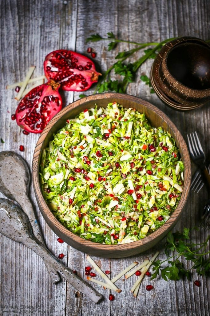 Brussels Sprouts and Pomegranate Salad
