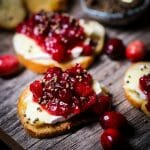 Cranberry Chutney and Brie Crostini