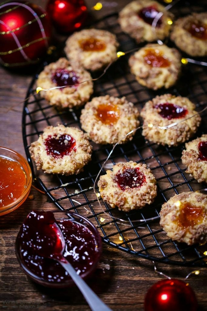 Nutty Thumbprint Cookies