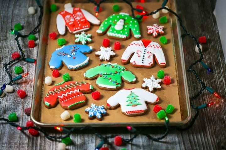 Ugly Sweater Gingerbread Cookies