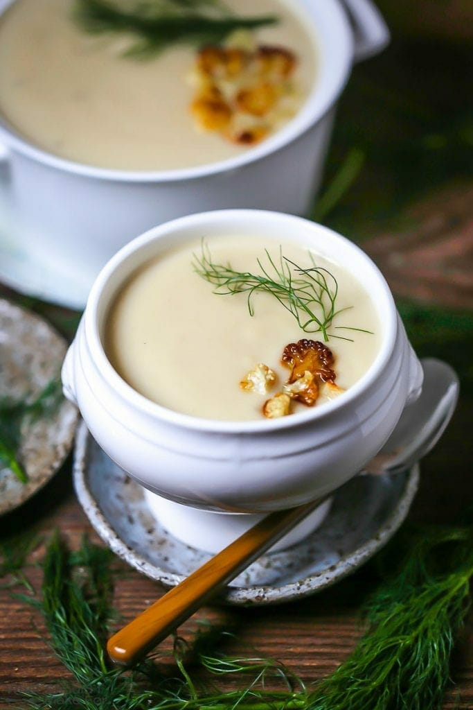 Roasted Fennel and Cauliflower Soup
