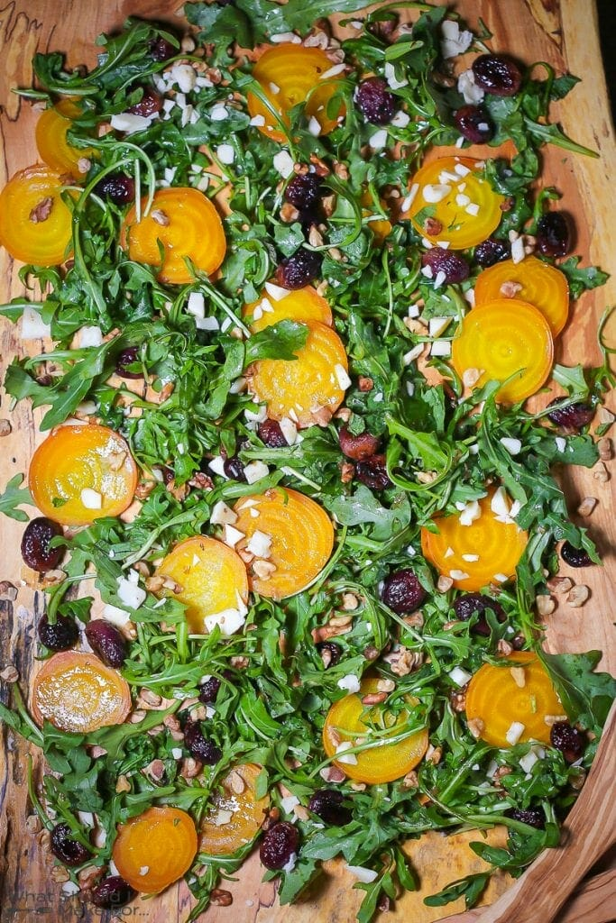 Roasted Golden Beets and Grape Salad