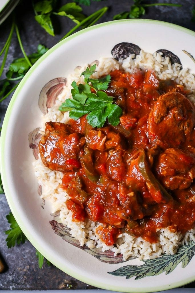 Braised Veal and Peppers