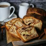 Cinnamon Babka slices for ready for serving.