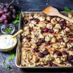 Roasted Cauliflower and Grapes with Yogurt Sauce