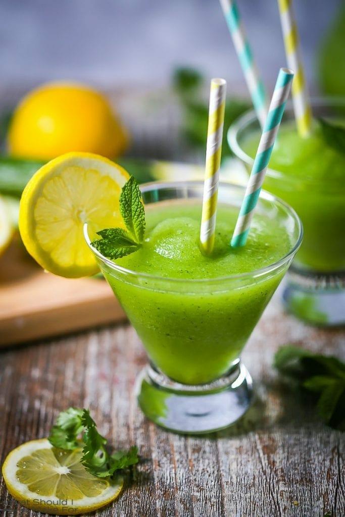 Frozen Cucumber Lemonade Cocktail